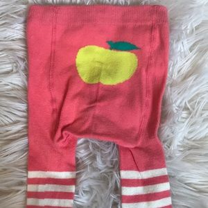 Baby Boden coral striped tights 12-24M